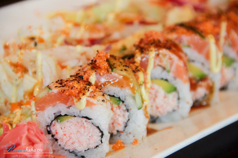 炙燒-鮭魚火焰卷-台北東區-日本料理-美食推薦-花酒藏