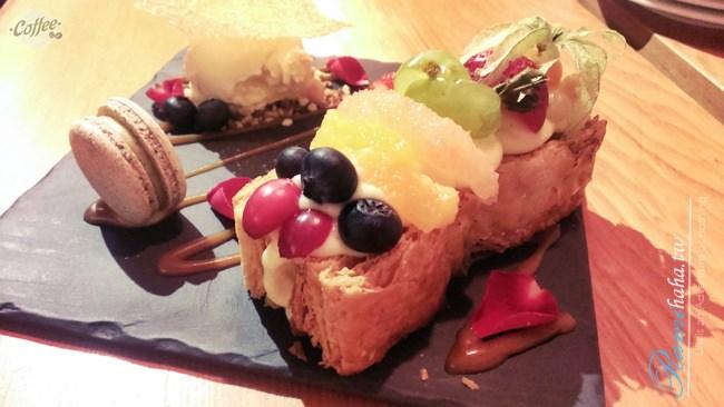 [台北] 大安區 咖啡廳 – 板南線 忠孝敦化站 咖啡瑪榭Cafe Marche 超厲害分子甜點料理 (推薦松露義大利麵、覆盆子分子甜點)